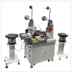 Automatic double-head vibrating plate terminal machine servo cold-pressed insulated terminal feeding pressing connector